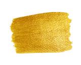 Fototapety Gold Texture. Brush stroke vector design element.