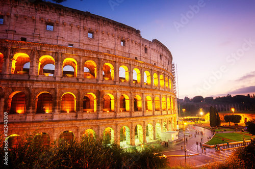 Poster Colosseum in Rome, Italy