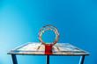 Plexiglass street basketball board with hoop on outdoor court