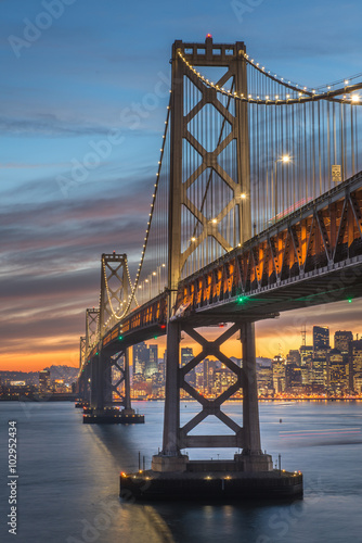 Foto op Canvas Milan Bay Bridge San Francisco