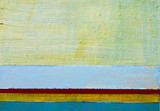 A detail from an abstract painting; horizontal bands of colour - 102957243
