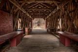 Fototapety Red Barn Bridge Interior