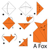 step by step instructions how to make origami A Fox. - 102973479