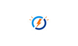 electric light bolt icon vector logo