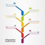 Fototapety Banner infographic design template. Vector illustration.