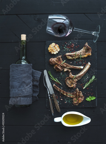 ... lamb chops with ham pears grilled rosemary lamb chops 4 ww pts fast