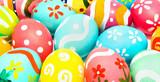 Colorful handmade easter eggs