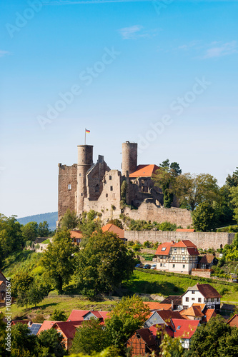 Foto op Aluminium Kasteel Ruins of Hanstein Castle in Germany
