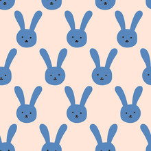 Bezszwowe wzór królika