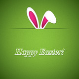 Fototapety Easter greeting card with rabbit ears