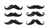 Fototapety black mustache icons
