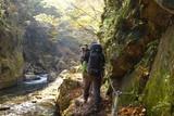 秋 西沢渓谷 川 谷 滝