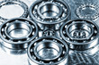 aerospace parts, ball-bearings in titanium and steel against aluminum