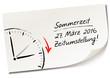 Постер, плакат: Memo Zeitumstellung Sommerzeit 2016