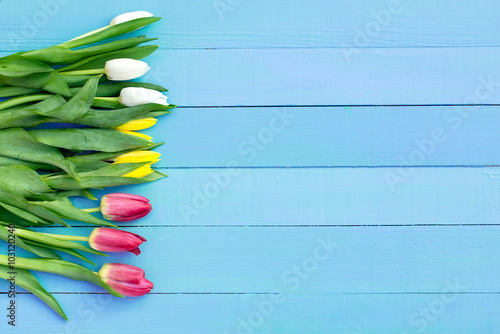 spring flowers on the Board