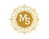 MS initial royal letter logo