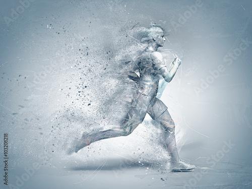 Fototapeta running,abstract