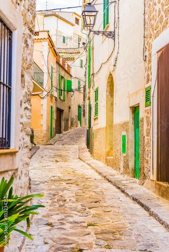 Zdjęcia na płótnie, fototapety na wymiar, obrazy na ścianę : Alleyway with old paving stones of an mediterranean village