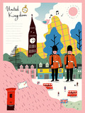 Fototapety United Kingdom travel impression poster