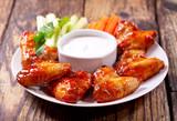 Fototapety fried chicken wings