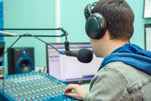 Poster Man portrait radio DJ