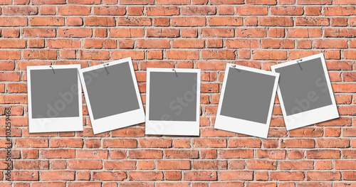 Seamless texture of old brick wall with templates for own images, header, grunge - nahtlose Ziegelmauer mit Platzhaltern. Suitable for Fotolia images #103143054, #103258211,  #103259151,  #103336639 © mahey