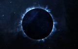 Fototapety Solar Eclipse Above a Nebula. Elements of this image furnished by NASA