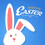 cartoon rabbit, vector