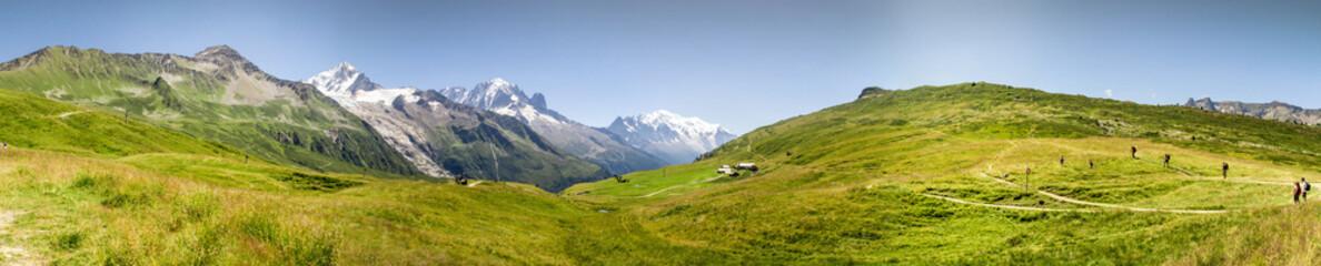 Fototapeta panorama na Mount Blanc