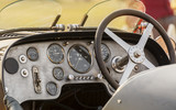Cabin - dashboard of a retro Bugatti vintage sports car