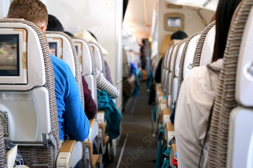 Zdjęcia 飛行機 旅客機 旅行 一人旅 航空機 キャビン 機内食 フライト / Airplane cabin on board