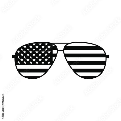 American flag glasses icon