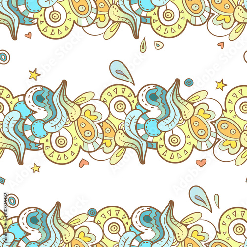 Tuinposter Abstract bloemen Seamless abstract pattern.Vector image. Doodle style.