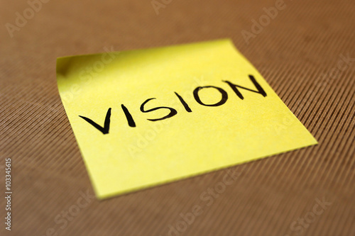 Poster selective focus on vision text