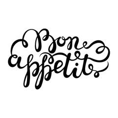 Bon appetit hand drawn pen brush lettering