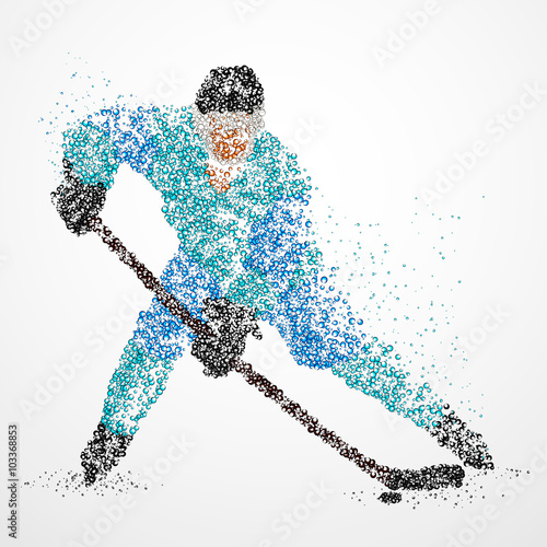 Fototapeta abstraction, hockey, ice, puck
