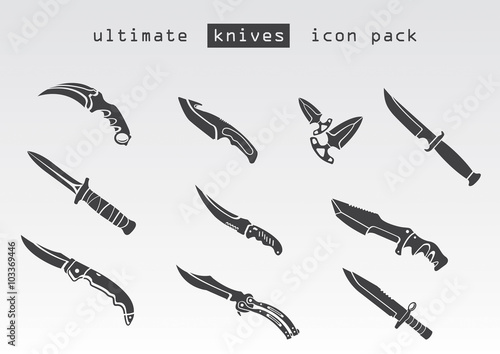 Different type of knives. Inspired by popular shooter game .