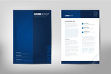 Fototapety Modern Cover Annual Report Brochure - business brochure - Catalog Cover, flyer design, size A4, front page and back page. Easy to use and edit. Vector Layout template .