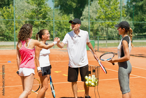 Poster Professeur de tennis populaire