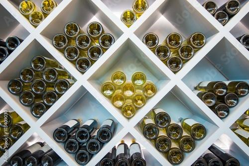 Fototapeta Wines Wooden Shelve