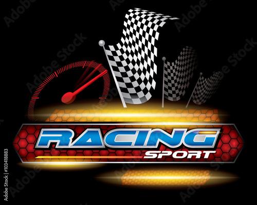 Fotobehang F1 RACING SPORT CONCEPT for LOGO DESIGN VECTOR