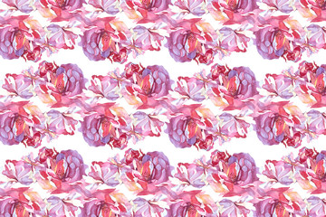 pattern rose watercolor