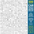 car, automobile, vehicle set 500 black simple icons. Auto, machine, repair, mechanic  icon design for web and mobile.
