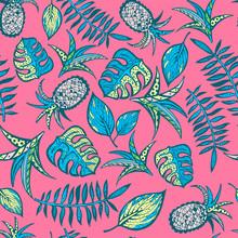 Cartoon motif tropical