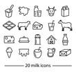 milk line icons