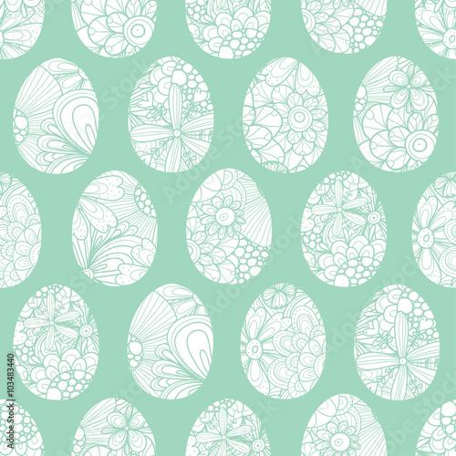 Materiał do szycia Easter egg seamless vector pattern.