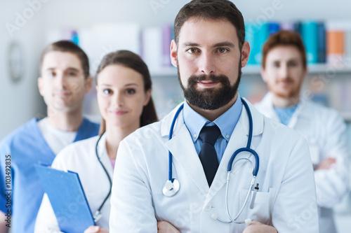 Medical team at the hospital Plakat