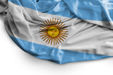 Argentine flag on white background