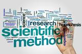 Scientific method word cloud