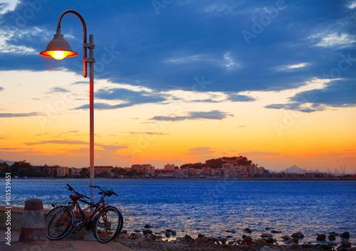 Denia sunset las Rotas in Mediterranean Spain Poster